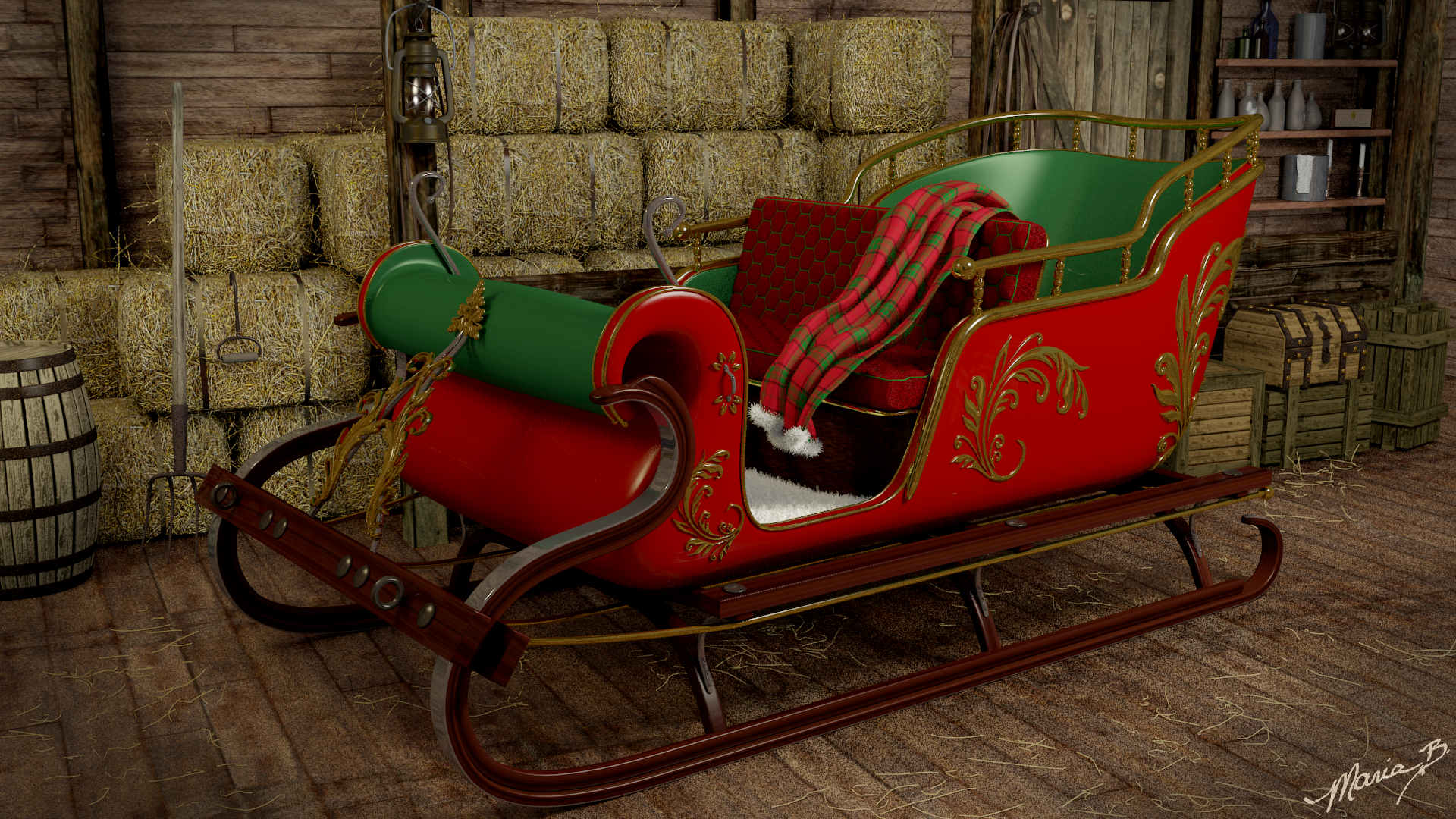 how to build a real sleigh